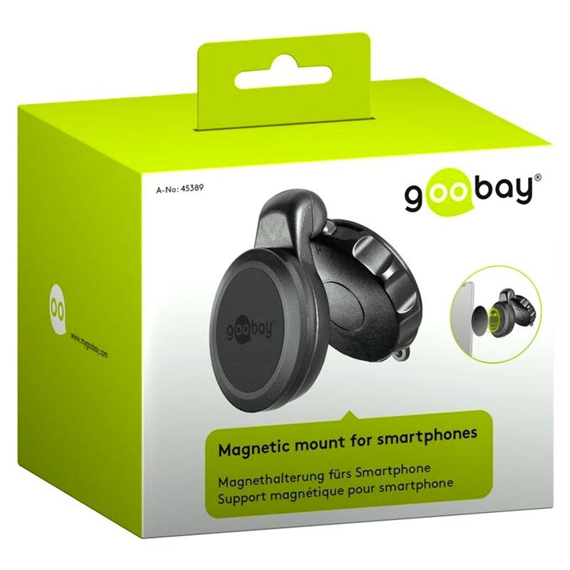 Goobay Universal Magnetic Car Holder with Suction Cup - Black