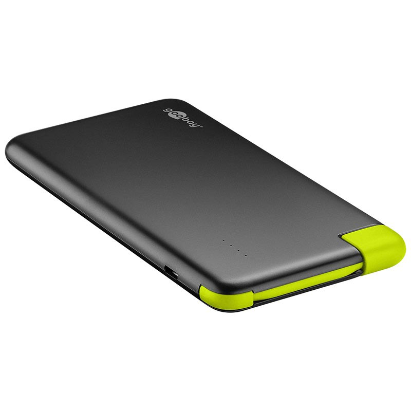 Goobay Slim 4000mAh Power Bank - Black