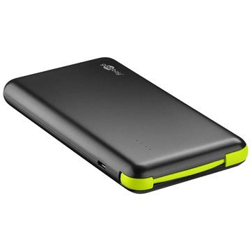 Goobay Slim 8000mAh Power Bank - Black