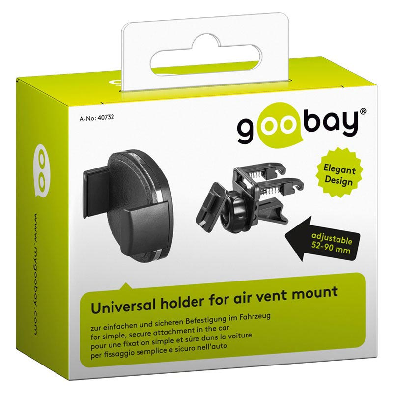 Goobay Universal Air Vent Car Holder - Black