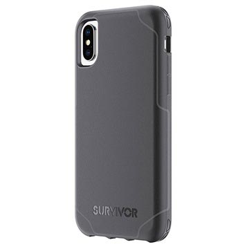 new concept 05667 346ce iPhone X Griffin Survivor Strong Case - Black / Dark Grey