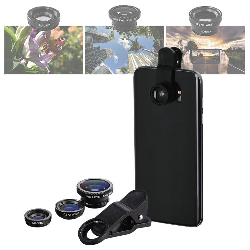 Hama 3-in-1 Camera Lens Kit for Smartphones and Tablets