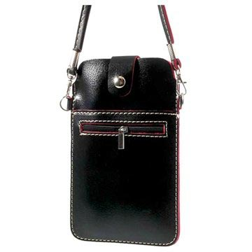 Handbag Style Leather Case - Black