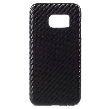 Samsung Galaxy S7 Hard Case - Carbon Fiber - Black