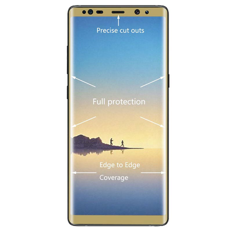 Samsung Galaxy Note 8 Hat Prince 3D Full Size Tempered Glass - Gold