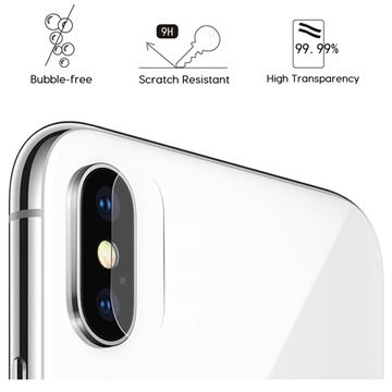 iPhone X / iPhone XS Hat Prince Camera Lens Tempered Glass Protector - 2 Pcs.