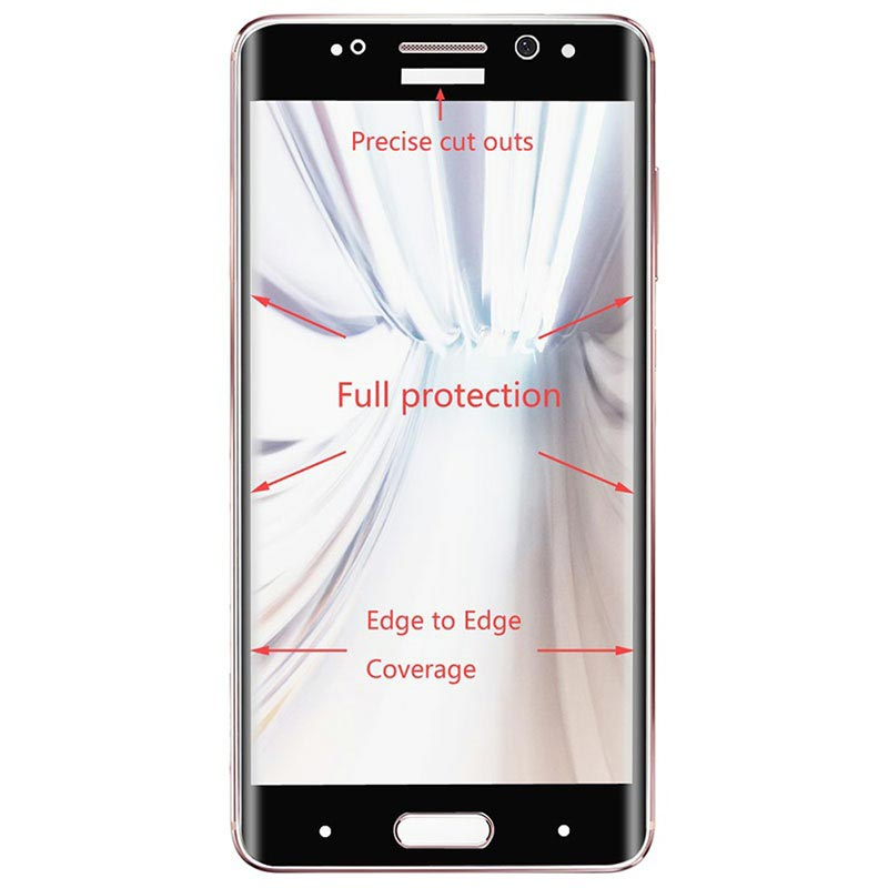 Huawei Mate 9 Pro Hat Prince Curved Tempered Glass Screen Protector - Black