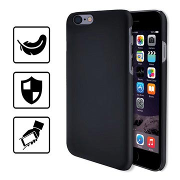 iPhone 6/6S Hello Crystal Box Rubberized Cover - Black