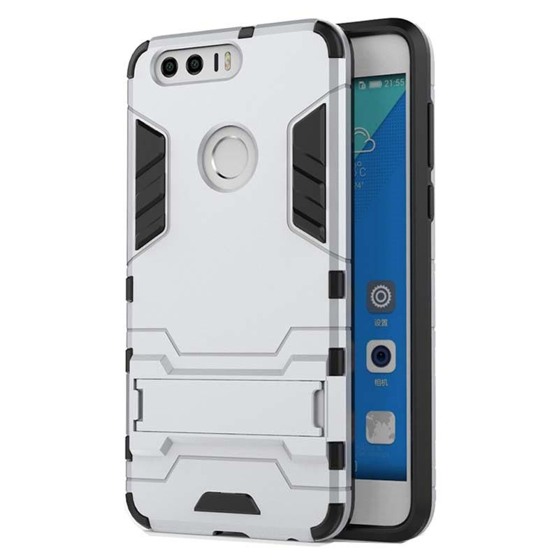 Huawei Honor 8 Hybrid Case - Silver