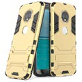 Motorola Moto G6 Plus Hybrid Case with Kickstand - Gold