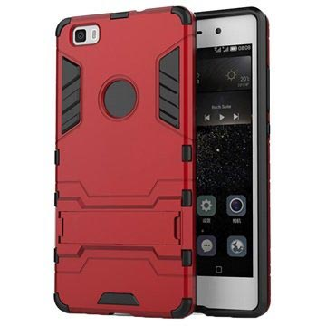 Huawei P8 Lite (2015) Hybrid Detachable Stand Case - Red