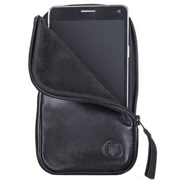 JT Berlin Soft Leather Pouch - M - Black
