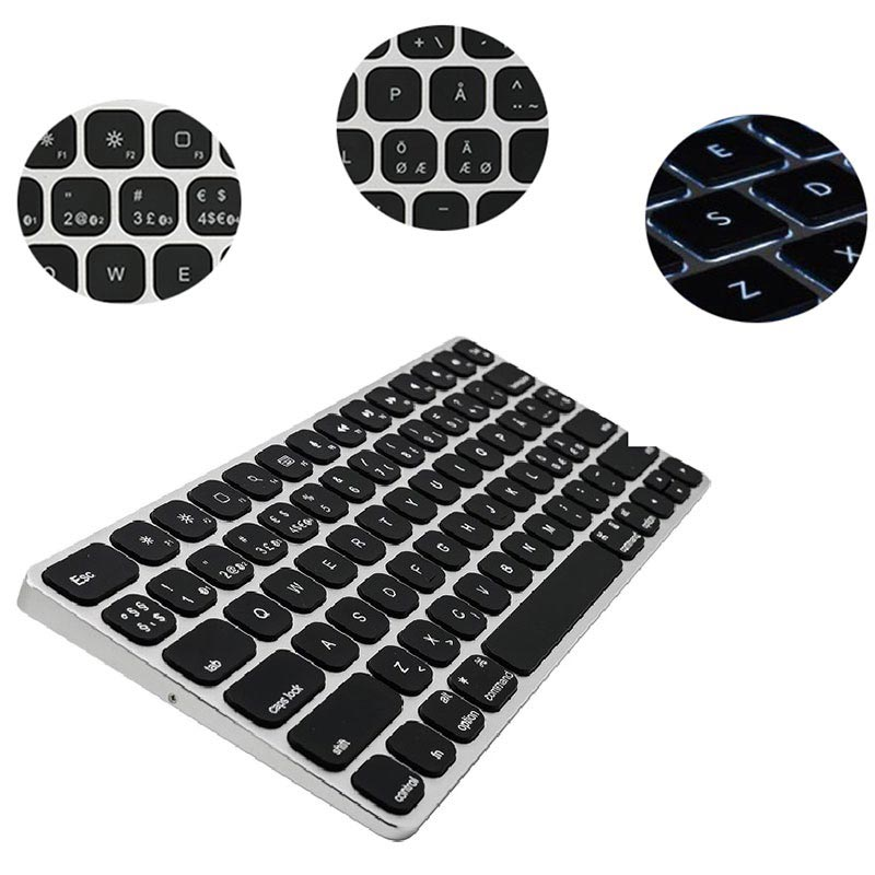 Kanex MultiSync Premium Slim Wireless Keyboard for Mac, iOS - Nordic Layout