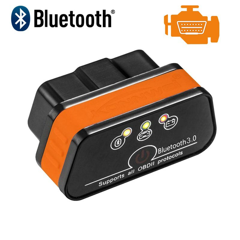 Konnwei KW901 ELM327 Bluetooth OBD2 Car Fault Diagnostic Tool