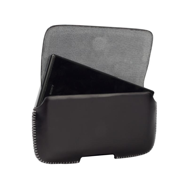 Krusell Hector Leather Case - HTC One, LG G2, Nokia Lumia 1020 - Black