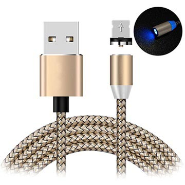 LED Magnetic Lightning Charging Cable - iPhone, iPad, iPod - Rose Gold