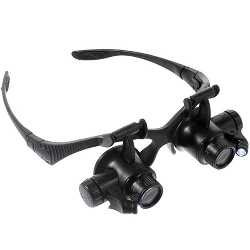 LED Magnifying Glasses 9892G - 10X, 15X, 20X, 25X