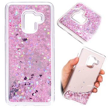 low priced 8f107 151e7 Samsung Galaxy A8 (2018) Liquid Glitter Case - Pink