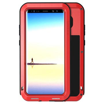 Samsung Galaxy Note8 Love Mei Powerful Hybrid Case - Red