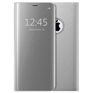 Luxury Series Mirror View iPhone 7 Plus / 8 Plus Flip Case - Silver
