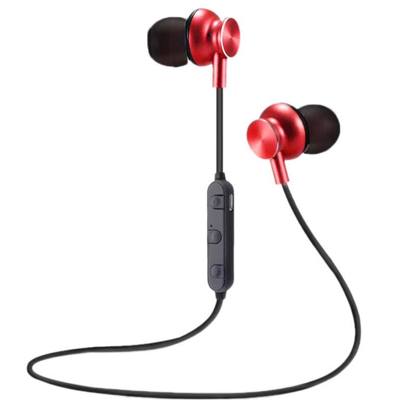 M6 Magnetic Bluetooth In-ear Wireless Headphones - Red