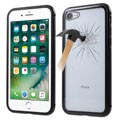 iPhone 7 / iPhone 8 Magnetic Case with Tempered Glass Back - Black