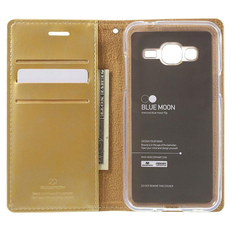 Samsung Galaxy J3 (2016) Mercury Goospery Blue Moon Case - Gold