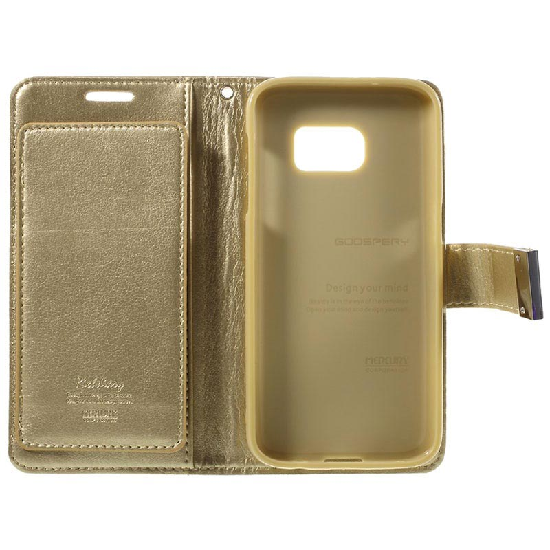 Samsung Galaxy S7 Mercury Goospery Rich Diary Wallet Case - Champagne