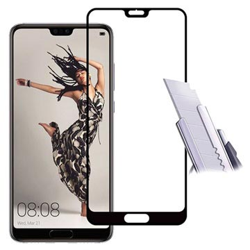 Mocolo Full Coverage Huawei P20 Tempered Glass Screen Protector - Black