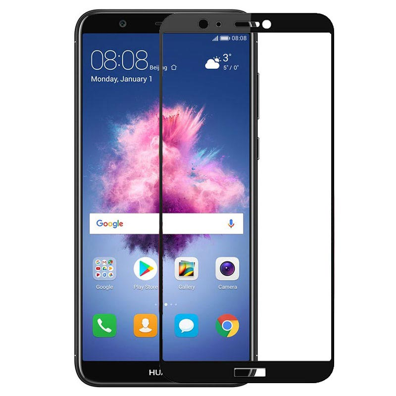 Huawei P Smart Mocolo Full Cover Tempered Glass Screen Protector - Black