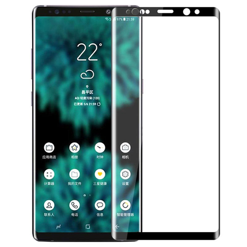 Mofi Full Size Samsung Galaxy Note9 Tempered Glass Screen Protector - Black