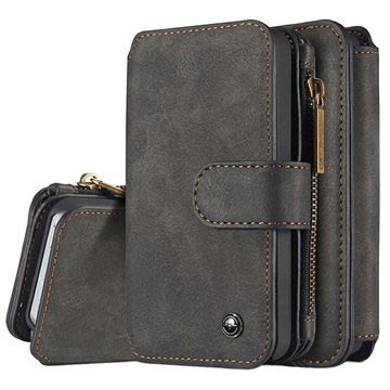 iPhone 5/5S/SE Caseme Multifunctional Wallet Leather Case - Black