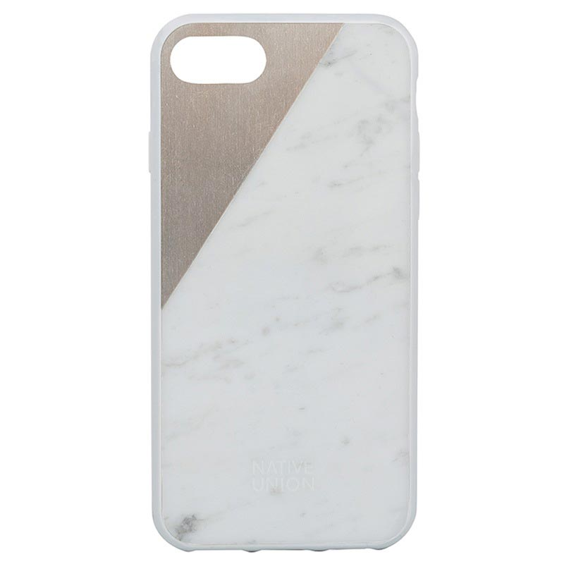 buy popular f3aa2 104a0 iPhone 7 Native Union Clic Marble Case - White