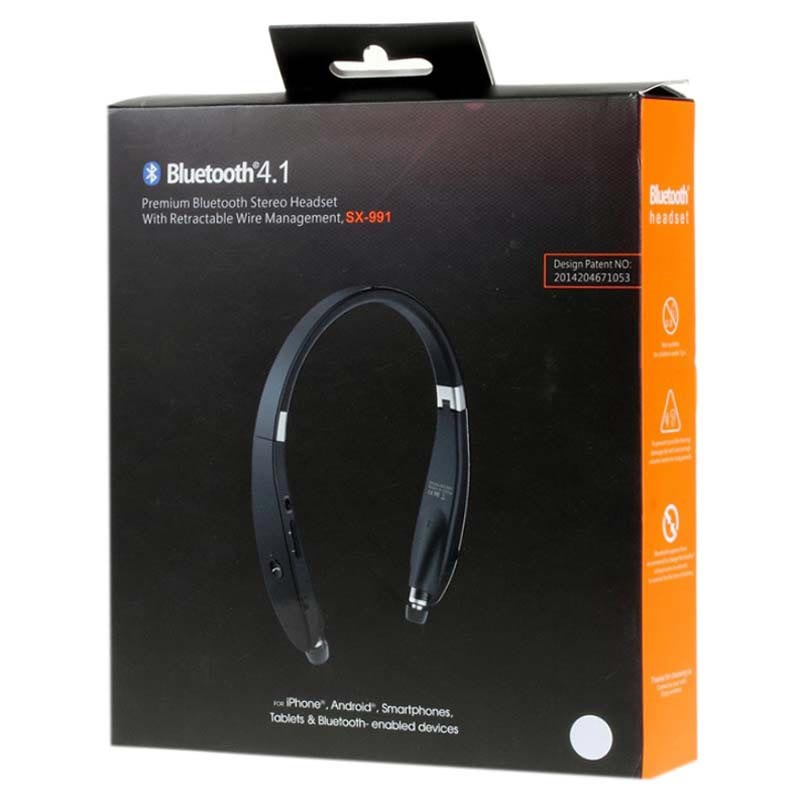 Suicen SX-991 Sports Style Bluetooth Stereo Headset - Black