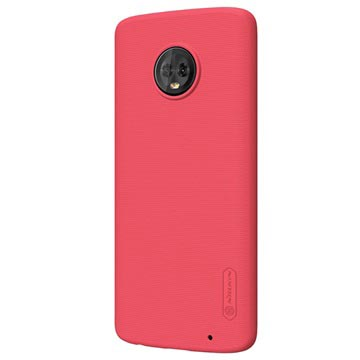 Nillkin Super Frosted Shield Motorola Moto G6 Plus Cover - Red