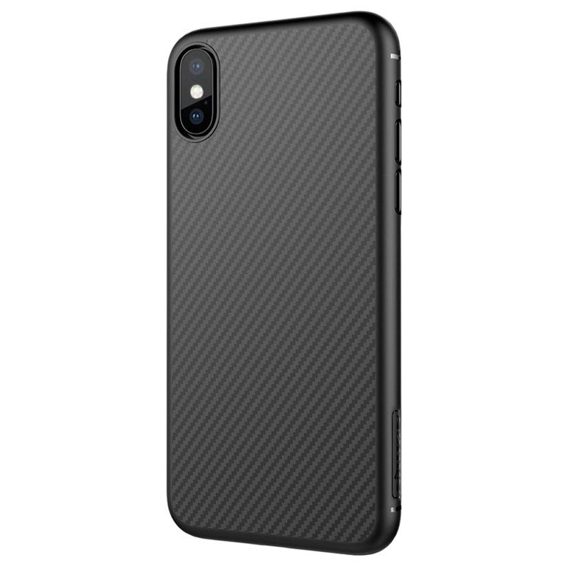 iPhone X Nillkin Synthetic Carbon Fiber Cover - Black