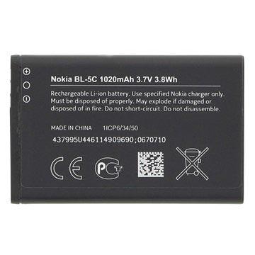 Original Nokia BL-5C Battery - Bulk