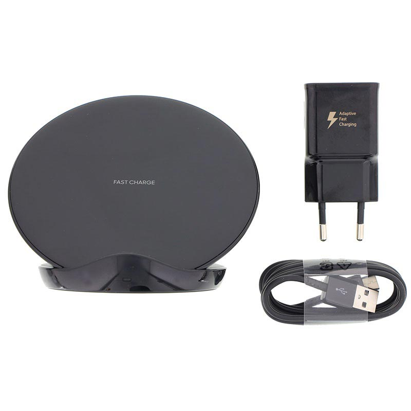 Samsung EP-N5100TB Fast Charge Wireless Charger Stand incl. Travel Adapter - Black