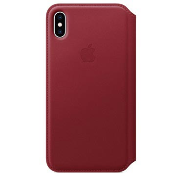 iPhone XS Apple Leather Folio Case MRWX2ZM/A - Red