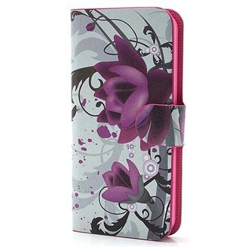 iPhone 5 / 5S / SE Wallet Case - Lotus Flower