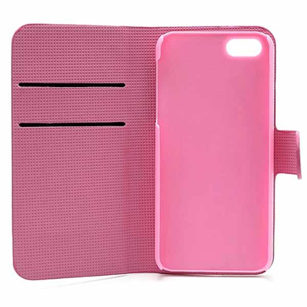 iPhone 5 / 5S / SE Wallet Case - Pink Flowers