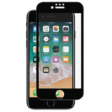 iPhone 7 / iPhone 8 Panzer Premium Curved Glass Screen Protector - Black