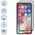 Panzer Premium Curved iPhone XS Max Silicate Glass Screen Protector - Black