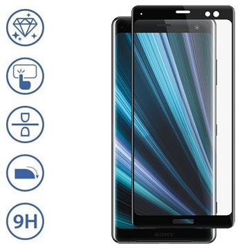 Panzer Premium Curved Sony Xperia XZ3 Tempered Glass Screen Protector - Black