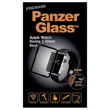 Apple Watch Series 1/2/3 PanzerGlass Premium Screen Protector - 42mm - Black