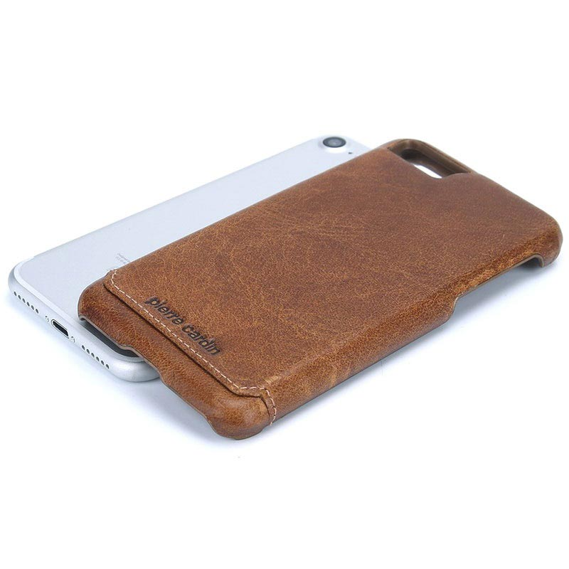 iPhone 7/8/SE (2020) Pierre Cardin Leather Coated Case - Brown