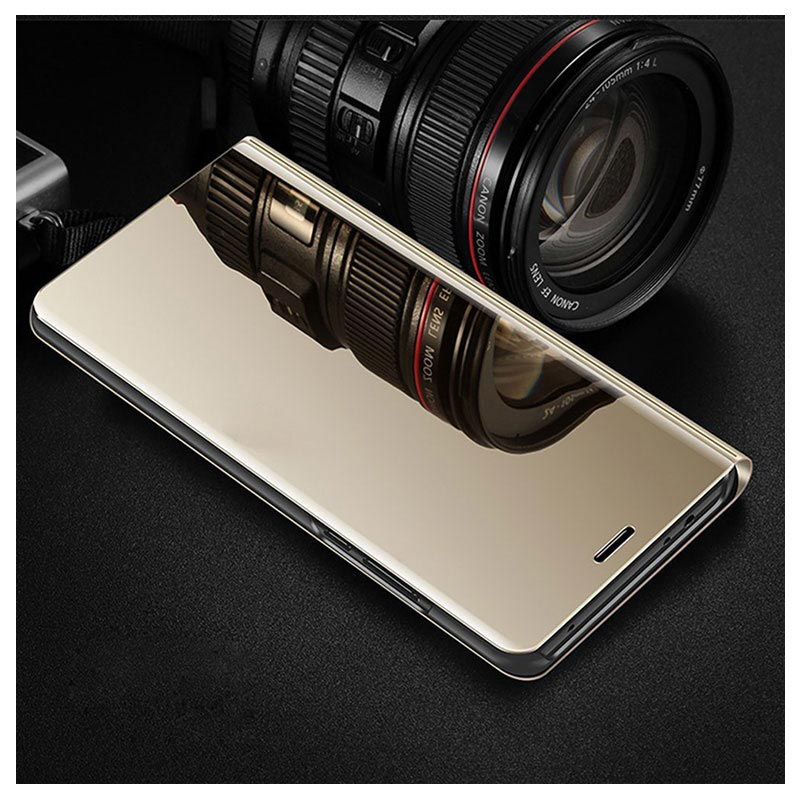 Luxury Series Mirror View Samsung Galaxy Note8 Flip Case - Gold