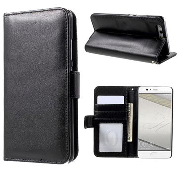 Huawei P10 Premium Wallet Case with Stand Feature - Black