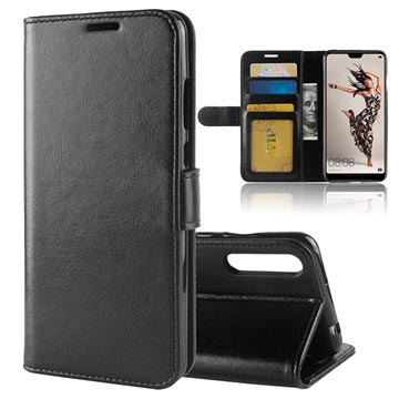 Huawei P20 Pro Premium Wallet Case with Stand Feature - Black