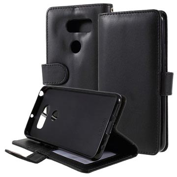 LG V30 Premium Wallet Case with Stand Feature - Black